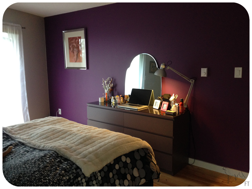aubergine paint in the bedroom fox on an island